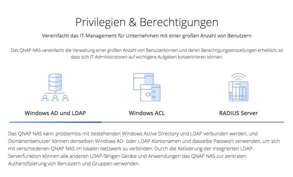 QNAP Benutzer Verwaltung