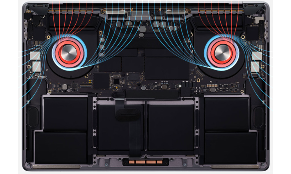 macBook PRo 16 thermals