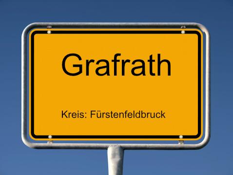 Ortsschild Grafrath 1